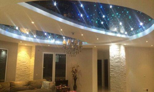 طراحی سقف و نورپردازی لابی ساختمان